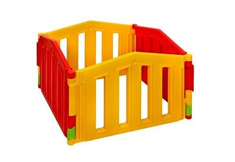 Parc de bebe XXL - 4 cotes extensions set - Barrière de sécurité modulable - 3 configurations différentes - le modèle 2012 certifié EN 71