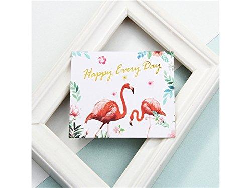 1 Stück Flamingo Grußkarte Bless Card Einladungskarte Geschenkkarte Nachricht Karte (glücklich jeden Tag) Durch Znyo