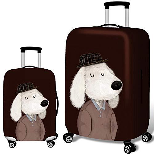 Elastisch Kofferhülle mit Reißverschluss 18-32 Zoll Detektiv Hund Verschleißfeste Luggage Cover Reisekoffer Hülle Kofferschutzhülle Gepäck Cover Kofferbezug Schutzbezug Kofferschutz F1 XL-29-32