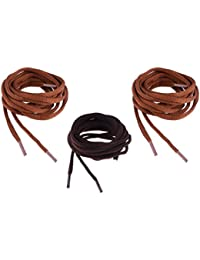 SHOESHINE INDIA Unisex Polyester Oval Round Shoe Laces, 120cm(Brown and Chocolate, Oval_43)