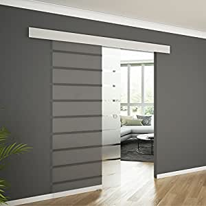 soft close glasschiebet r schiebet r glas glast r alu. Black Bedroom Furniture Sets. Home Design Ideas