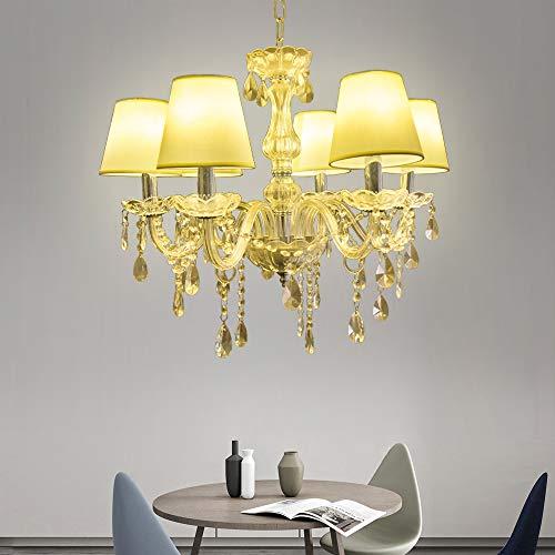 Vingo® Chandeliers cristallo Lampada 6 lampadari in cristallo a braccio 6 Applicabile al soggiorno, sala conferenze, lobby [Classe di efficienza energetica A++]