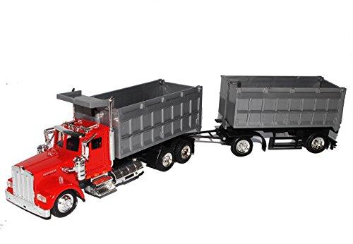 Kenworth-lkw-modelle (Kenworth W900 Kipper mi Anhänger Rot Truck LKW 1/43 New Ray Modell Auto)