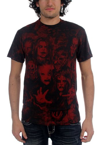 SLIPKNOT - Spine All Over adulto S/S T-Shirt Black XX-Large