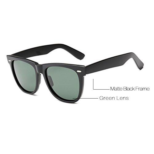 Zygeo -Super Klassische Sonnenbrille M?nner polarisierten UV400 Spiegel Quadrat-Qualit?ts-Frauen Sonnenbrille AT5688 [C2 Matte Black]