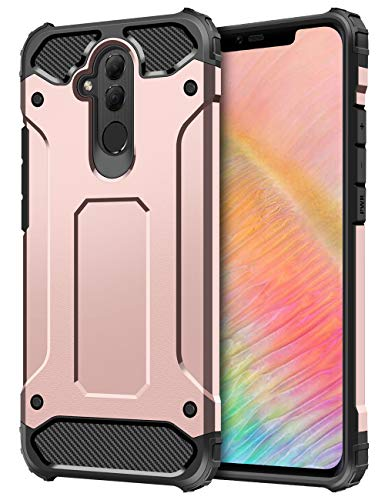 Coolden Huawei Mate 20 Lite Hülle,Premium [Armor Serie] Outdoor Stoßfest Handyhülle Silikon TPU + PC Bumper Cover Doppelschichter Schutz Hülle für Huawei Mate 20 Lite (Rose Gold)