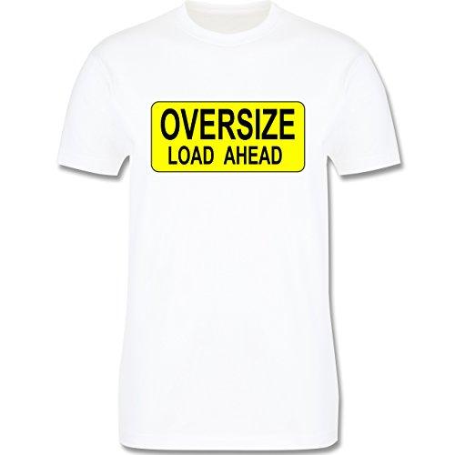 Trucker - Oversize load ahead Warnschild - Herren Premium T-Shirt Weiß