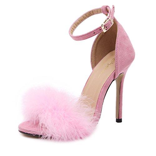 Shoemaker's heart 20Shoemaker's heart7 L Europa e l America Super tacco alto scarpe sexy sexy sandali vino rosso Thirty-six
