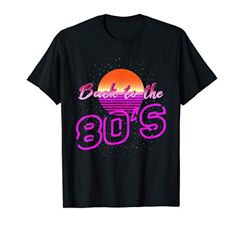 80's Kostüm The Back To - 80er Jahre Shirt Kostüm Back to the 80s Retro 80's Party