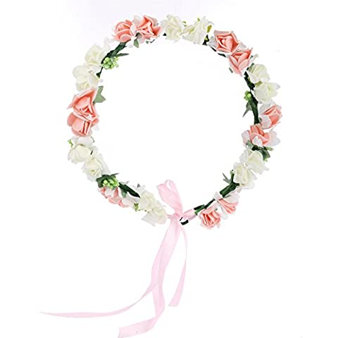 AWAYTR Couronne de fleurs Bohemia fleur de la Couronne Garland