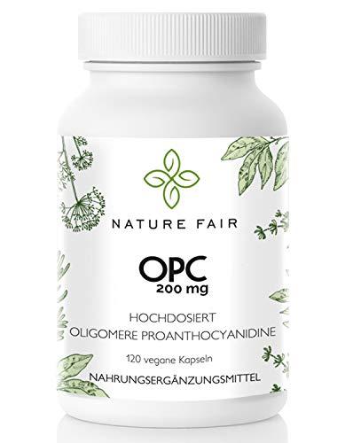 Nature Fair OPC Kapseln Laborgeprüfte Premium Qualität hergestellt in Deutschland 120 Kapseln 100% Vegan und mit französischen Trauben