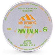 Mr. Henry's Dog Paw Balm | Hand Blended in the UK | Moisturises, Repairs & Protects Your Dog's Rough, Cracked and Sore Paws | Non-Toxic, All Natural & Cruelty-Free Formula | 60g Pot