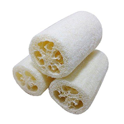 MRULIC Neue natürliche Loofah Bad Körper Dusche Schwamm Scrubber Pad Hot (Weiß)