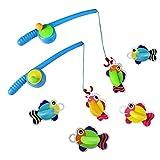 Bad Angeln Spielzeug mit Schwimmenden Fisch Badespaß Zeit Großes Geschenk für Bad lustig (Style B)