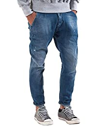 Meltin'Pot - Jeans LUDWIG D0128-UB390 para hombre, estilo chino, ajuste suelto, talle baja