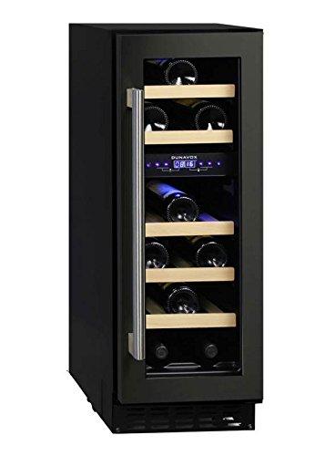 Dunavox - 'DAU-17.57DB', Weintemperierschrank für 17 Flaschen, 2 Zonen, 5 - 22°C, Einaugerät