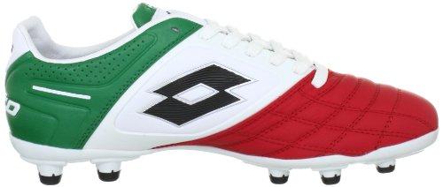Lotto Sport STADIO POTENZA II 100 FG Q0915, Scarpe da calcio uomo Bianco (Weiss (WHT/GREEN FLAG))