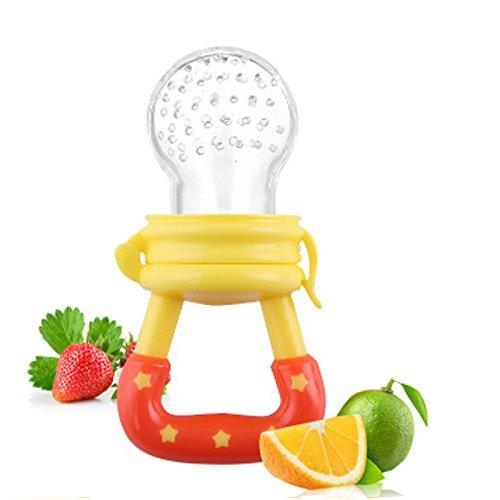 Preisvergleich Produktbild Hosaire Baby Schnuller Lebensmittel Silikon Schnuller Baby Beruhigungssauger,Babys und Kleinkinder durch Fruchtsauger mit Gemüse und Obst fördern(gelb)