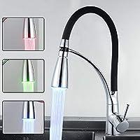 Zhanghaidong 3-Color Sensible A La Temperatura LED Grifo De Agua Luz Corriente De Agua