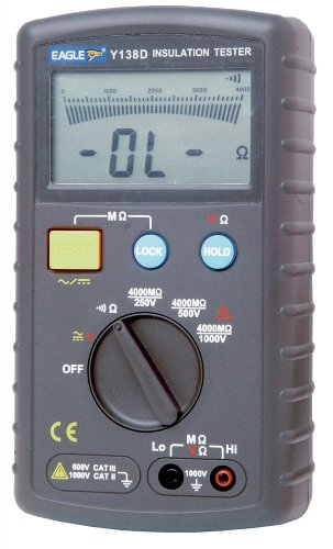 Electrovision Black Professional Auto Ranging Insulation Tester