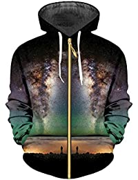 Sudadera con Capucha Cool Print Nightfall Space 3D Unisex Hip Hop Jacket
