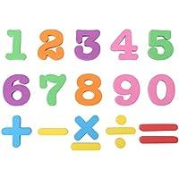 Zerodis Conjunto completo letras del alfabeto del bebé magnético números para niños Rompecabezas imán de nevera educativo juguete de aprendizaje regalo de cumpleaños de los niños(# 3)