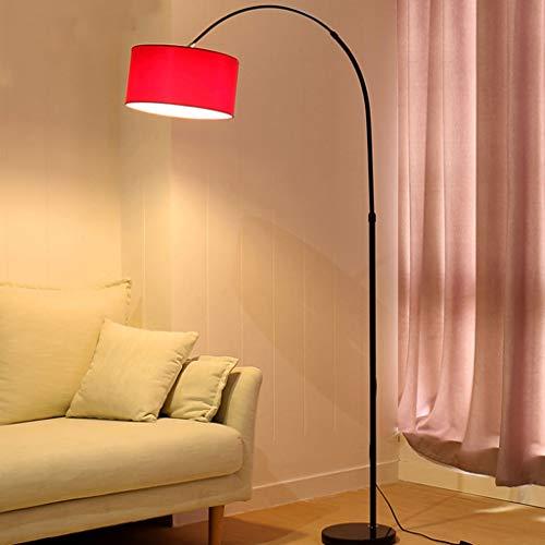 FORWIN Stehleuchte- LED Arc Stehleuchte - verstellbare Schwanenhals-Stehlampe, für Wohnzimmer, Schlafzimmer, Arbeitszimmer und Büro Innenbeleuchtung (Farbe : Weinrot-12w: Three-color dimming) - Verstellbarer Schwanenhals Stehlampe