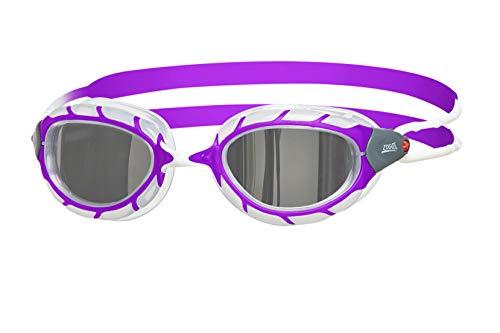 Zoggs Mädchen Predator Mirror Junior Schwimmbrille Purple/White, One Size (Mirror Predator)