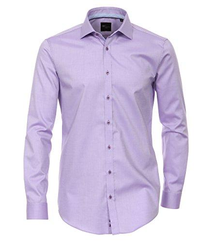 Michaelax-Fashion-Trade -  Camicia classiche  - Basic - Classico  - Maniche lunghe  - Uomo Purple - Lila (950)