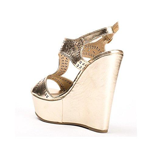 Ideal Shoes ,  Sandali donna Oro