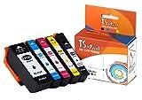 TS-Print 5er-Set Tintenpatronen ersetzt Epson T-3331-XL T-3341-XL T-3342-XL T3343-XL T-3344-XL T-3351-XL T-3361-XL T-3362-XL T-3363-XL T-3364-XL 33-XL schwarz Black blau Cyan rot Magenta gelb Yellow