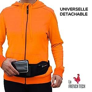 Shapeheart Ceinture de Sport Magnétique avec Pochette détachable Universelle - Accédez à Votre téléphone d'un Simple Geste (Iphone, Samsung, Huawei, etc.) (M)