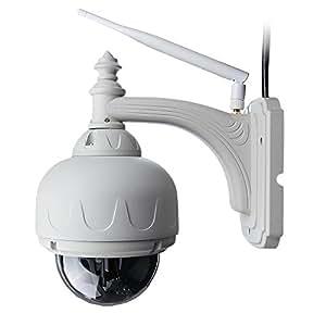 DBPOWER 1 mégapixels Hd 720p H.264 Zoom Objectif 4mm Caméra sans fil intérieur / extérieur 22 Leds Nightvision ONVIF réseau IP intégré micro SD 8G pour Mac / Windows / Android et iPhone, le soutien d'alarme par E-mail, FTP, Web Access Free Mobile distance pan / tilt / zoom
