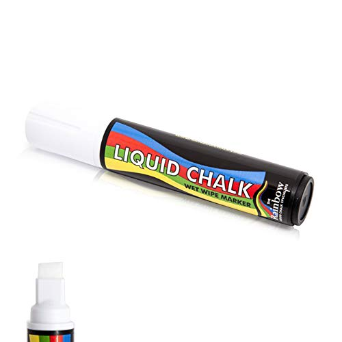 Liquid Chalk grand marqueur stylo blanc - 15mm nib Burin large