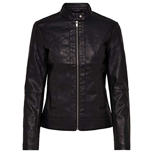 JdY Damen Jacke JDYDALLAS Faux Leather Jacket OTW NOOS, Schwarz Black, 38