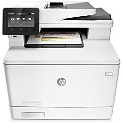 HP Color LaserJet Pro MFP M477fnw - Impresora láser a color (A4, hasta 27 ppm, 750 a 4000 páginas al mes, USB 2.0 de alta velocidad, Red Gigabit Ethernet 10/100/1000Base-TX integrado, Wi-Fi)
