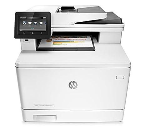 HP Color LaserJet Pro M477fnw Farblaserdrucker Multifunktionsgerät (Drucker, Scanner, Kopierer, Fax, WLAN, LAN, ePrint, Airpint, USB, 600 x 600 dpi)