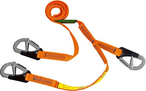 Baltic Sicherungsgurt, 3 Haken, Orange, 2 m