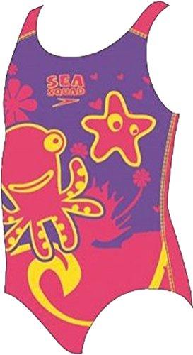 Speedo Mädchen Sea Squad Placement einteiliger Badeanzug Aqua Schwimmen (Schwimmen Kostüm Mädchen Speedo)