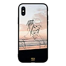 Apple iPhone XS Case Cover Doodle Cap Girl Making Selfie