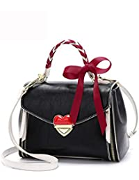 007dc4e842431 Rrock Damen Umhängetasche Mode Bogen Diagonal Cross-Paket Multi-Funktion  Casual Wild Love Lock