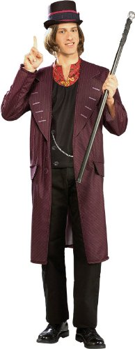 Willy Wonka Fancy Dress Adult Charlie in the chocolate Factory Costume Standard