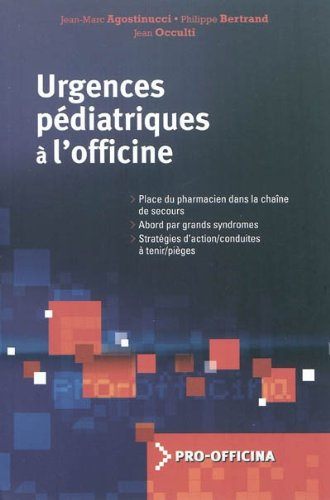 Urgences pdiatriques  l'officine