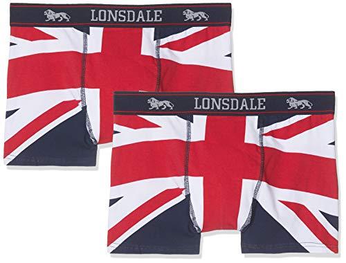 Lonsdale London Herren Tisbury Boxershorts, Navy/Red/White, M -