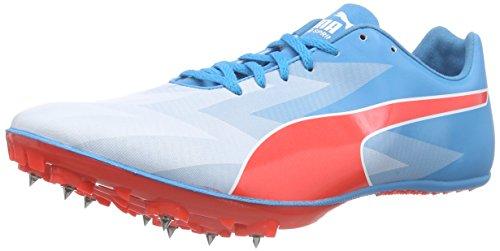 Puma Evospeed Sprint V6, Chaussures de course pour compétition homme Bleu - Blau (atomic blue-red blast-white 01)