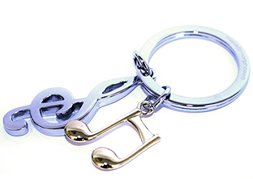 MTM Notenschlüssel und Note Schlüsselanhänger silber gold MTM-SH-57