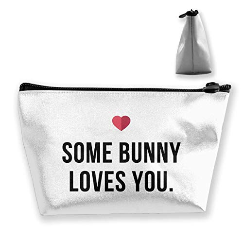 Trapez Reise Make-up Taschen Kulturbeutel Tragbare Stiftetui Fall Some Bunny Loves You (2) Clutch Bag -