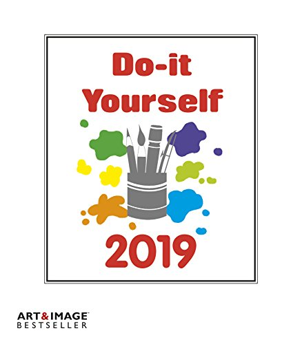Do-it-yourself 2019 - Bastelkalender weiß, Kalender zum selber machen, Do-it-yourself Kalender, Malkalender - 21 x 24 cm - Pro Style Wand