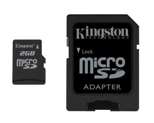 2 GB microSD-Card mit Adapter -