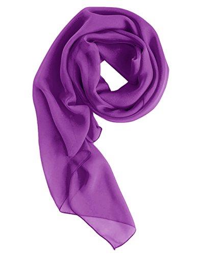 Dresstells Chiffon Schal Stola für Abendkleider in verschiedenen Farben Purple 200cmX75cm